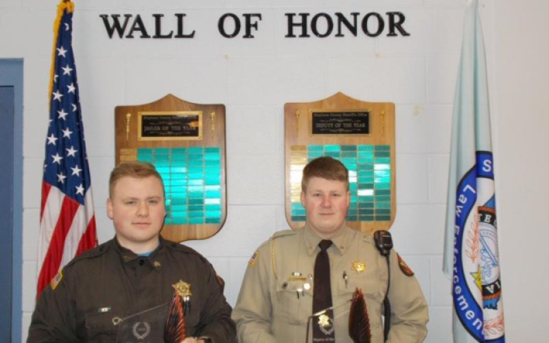 Alex Vaughn (left) was named jailer of the year while Kylar Jameson was named deputy of the year.