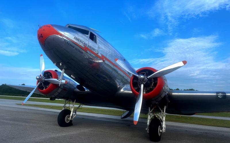 Douglas DC-3's are often featured attractions at air shows and provide attendants with a sense of nostalgia and history. This one flew in and out of the Toccoa-Stephens County Airport last week as two pilots received training.