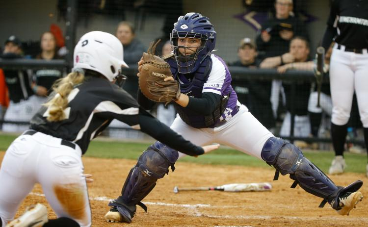 Natalie Morgan making a play for Furman University. - Photo courtesy of Furman athletics