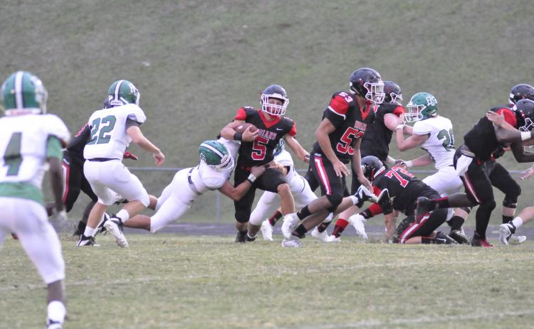 Hudson Spurlock evading the Franklin defense- Photo by: Marcus Etienne