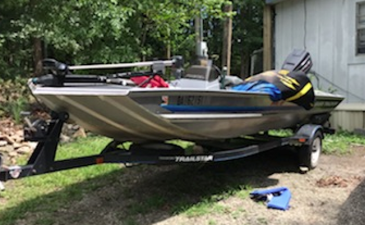 This boat, reported stolen in Habersham County, was discovered last Friday in Stephens County by sheriff's deputies.
