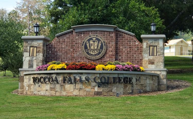 The sign at the entrance to Toccoa Falls College is beckoning new students for the upcoming fall semester.