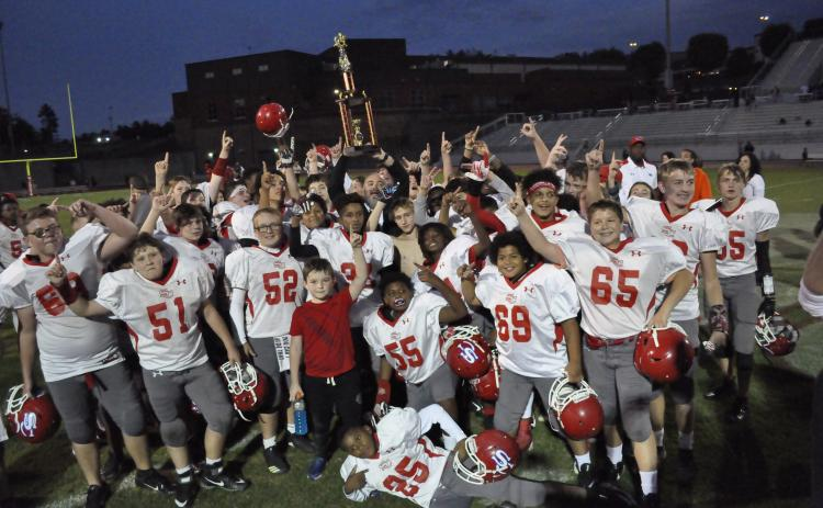 Stephens County Middle celebrates championship