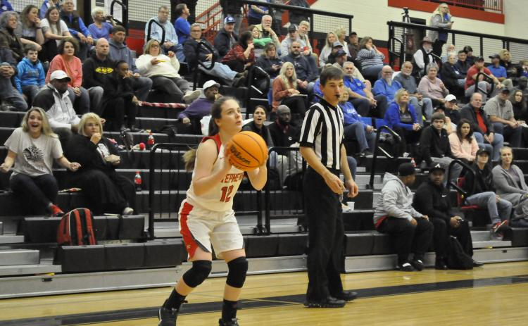 Lindsay Moore fires a three against Banks County