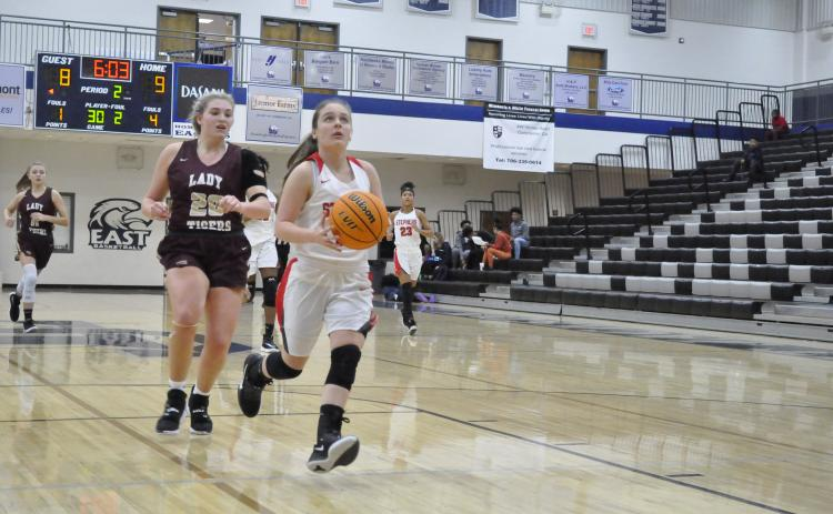 Lindsay Moore goes up for layup