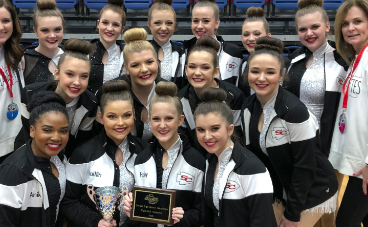 The Stephens County High School dance team took the championship Feb. 15.