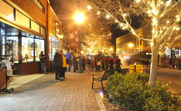 This year's event in downtown Toccoa will be held on Friday, Dec. 4, from 6-9 p.m.